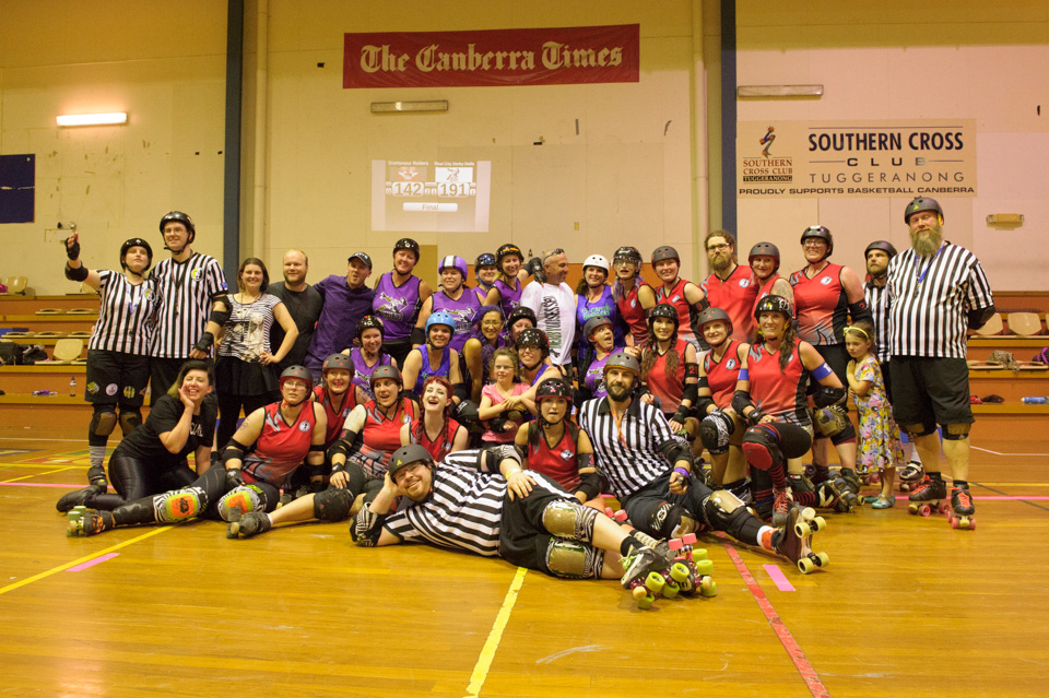 VDL DisHonour Rollers v WIRD Steel City Derby Dolls. Photographer: Brett Sargeant, D-eye Photography
