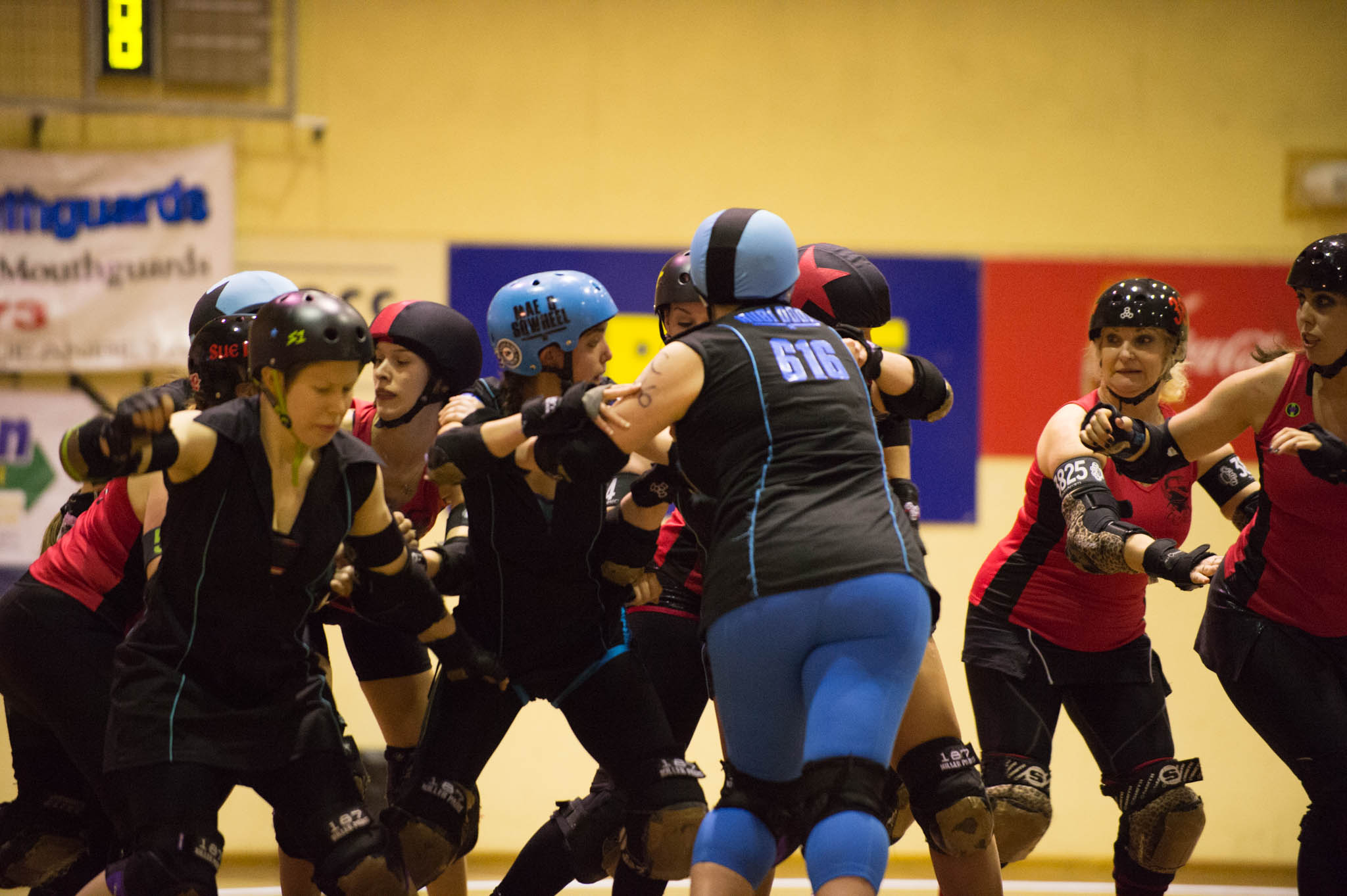 CRDL - Black 'n' Blue Belles v Red Bellied Black Hearts
