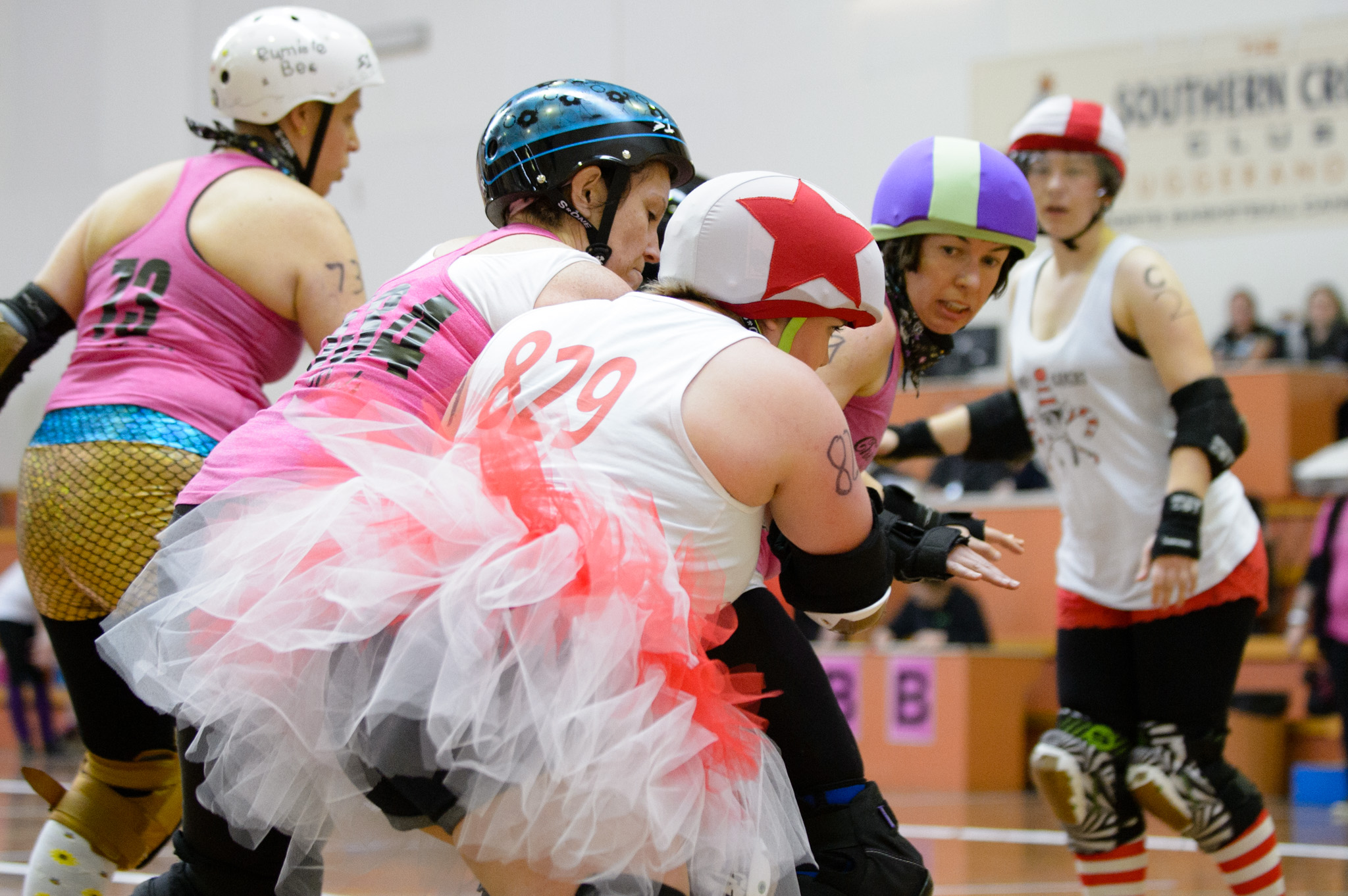 Candy Caners v Cherry Cola Rollers. Photographer: Brett Sargeant, D-eye Photography